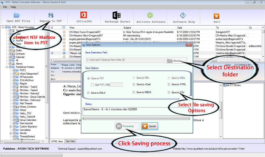 Step-1 Fallow to Convert NSF to PST file